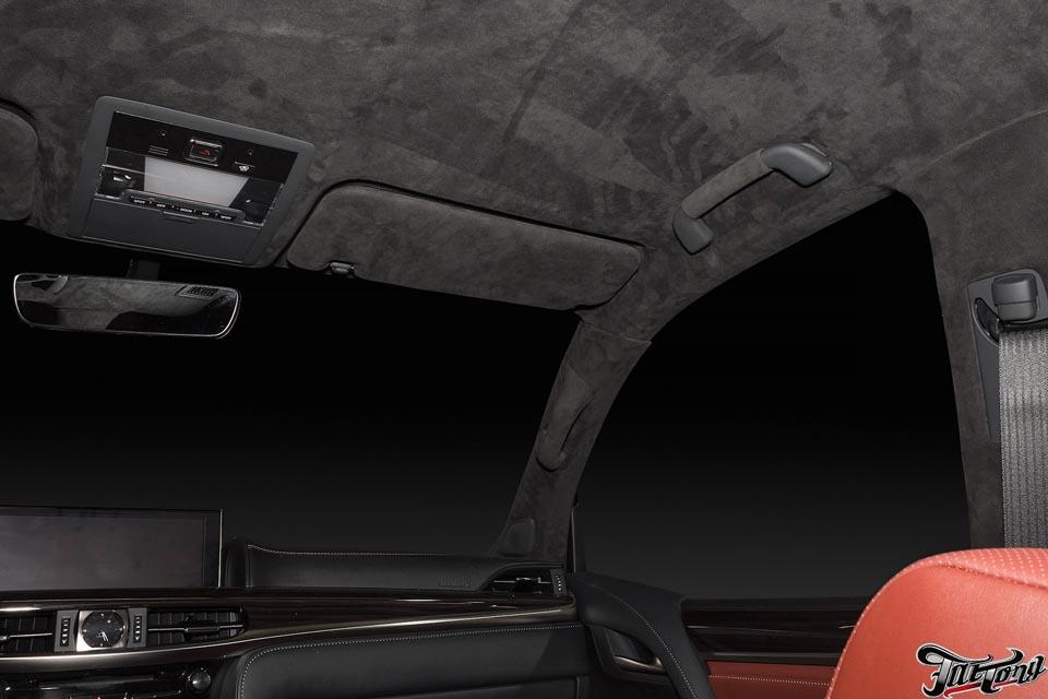 Перетяжка потолка алькантарой Eastline-Garage на DRIVE 2