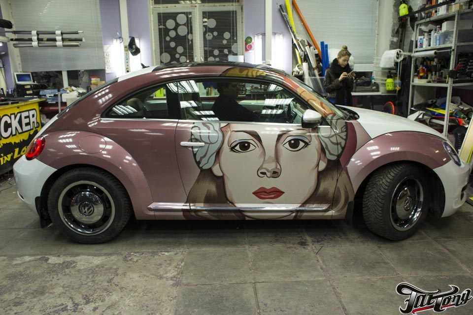 VW New Beetle. Винилография.